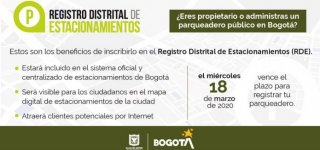 Registro distrital de estacionamientos